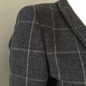 ASOS Jackets & Coats - 📸 Asos ❉ Grid Checked Wool Blend Blazer ❉ Heather